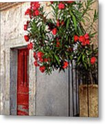 Red In Provence Metal Print