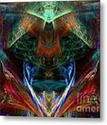 Red Indian Metal Print