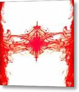 Red Ink Abstract Metal Print by Richard Thomas