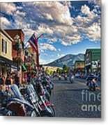Red  Lodge Motorcycle Rally Metal Print
