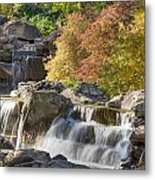 Red Maple Rill Waterfall Metal Print