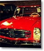 Red Mercedes Sl Metal Print