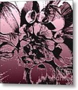 Red Metallic Dahlia Named Who Dun It Metal Print