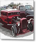 Red Model A Coupe Metal Print