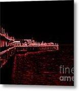 Red Neon Wharf Metal Print by Garnett  Jaeger