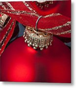 Red Ornaments Metal Print