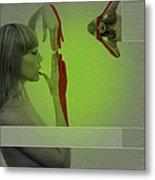 Red Paint Metal Print by Naxart Studio
