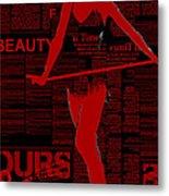 Red Paper Dance Metal Print