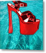 Red Platform Divers Metal Print