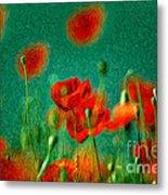 Red Poppy Flowers 07 Metal Print