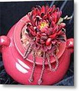 Red Pot Metal Print