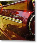 Red Ranchero And Round Taillight Metal Print