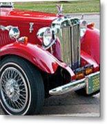 Red Roadster Metal Print