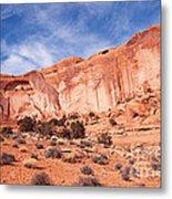 Red Rock And Blue Skies Metal Print by Bob and Nancy Kendrick