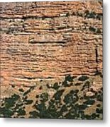 Red Rock Cliffs Along The Hood River Metal Print