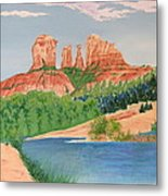 Red Rock Crossing Metal Print by Aimee Mouw