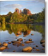 Red Rock Crossing Arizona Metal Print by Tim Fitzharris