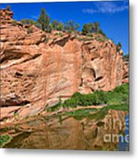 Red Rock Formation In The Kaibab Plateau In Grand Canyon National Park Metal Print