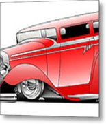 Red Rod Metal Print