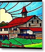 Red Roof Barn On Osceola Springs Road Metal Print