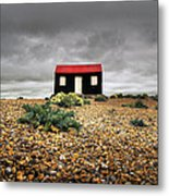 Red Roofed Hut Metal Print