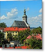 Red Roofed Wonders Metal Print