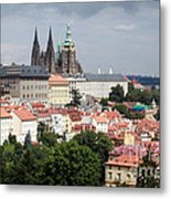 Red Rooftops Of Prague Metal Print