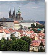 Red Rooftops Of Prague Metal Print by Linda Woods
