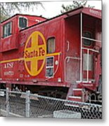 Red Sante Fe Caboose Train . 7d10325 Metal Print