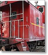 Red Sante Fe Caboose Train . 7d10330 Metal Print