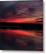 Red Sky Sunset Metal Print
