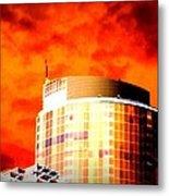 Red Sky Vancouver Metal Print