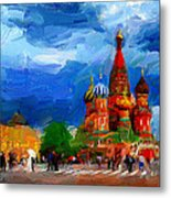Red Square Moscow Metal Print