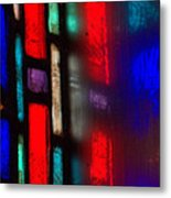 Red Stained Glass Metal Print