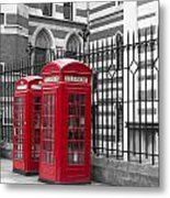 Red Telephone Boxes Metal Print