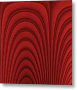 Red Textured Background Metal Print