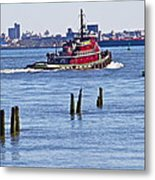 Red Tug One Metal Print