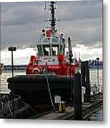 Red Tug Metal Print