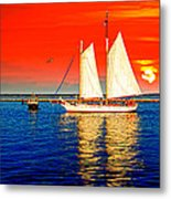 Red White Blue Cape Cod Will Do Metal Print