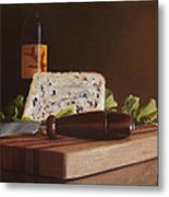 Red Wine And Bleu Cheese Metal Print