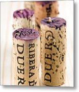 Red Wine Corks From Ribera Del Duero Metal Print