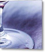 Red Wine Glass Metal Print