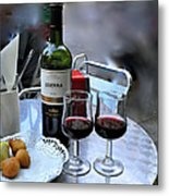 Red Wine In Barcellona Metal Print