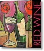 Red Wine Poster Metal Print