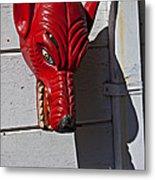 Red Wolf Mask Metal Print
