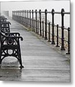 Redcar, North Yorkshire, England Row Of Metal Print