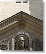 Redeemer And Cross Metal Print
