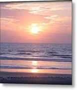 Reflected Beach Sunrise Metal Print