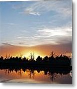 Reflected Sky Metal Print