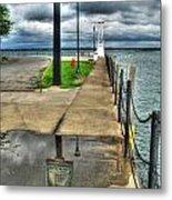 Reflecting At The Erie Basin Marina Metal Print